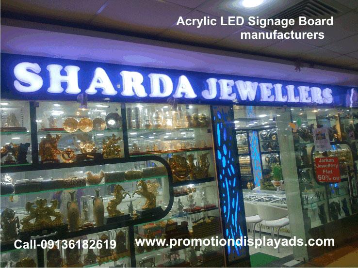 LED Acrylic Letter Signage Board manufacturers, Acrylic Led