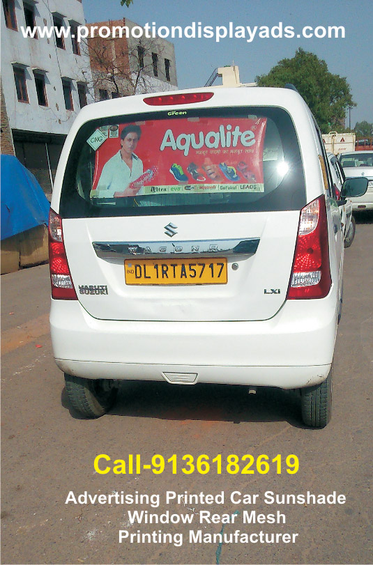 Advertising car sunshade mesh printing