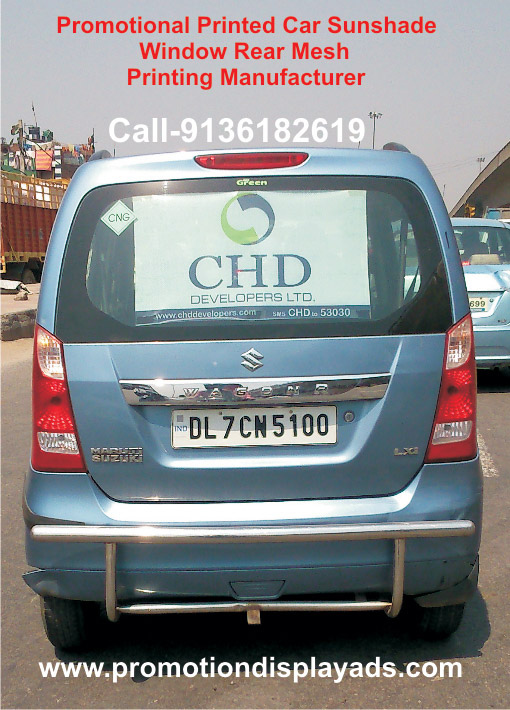 Promotional car window mesh